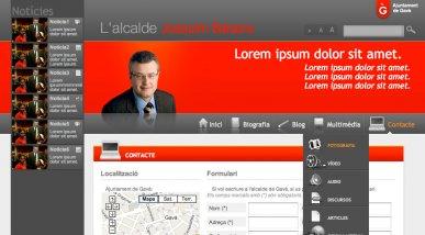 Ajuntament de Gavà: Web de l'alcalde Joaquim Balsera