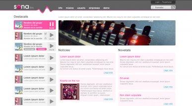 Web pel projecte Sona