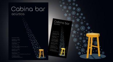 Cartell Concerts pel Cabina Bar