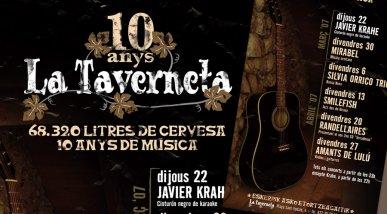 Cartell concerts la Taverneta